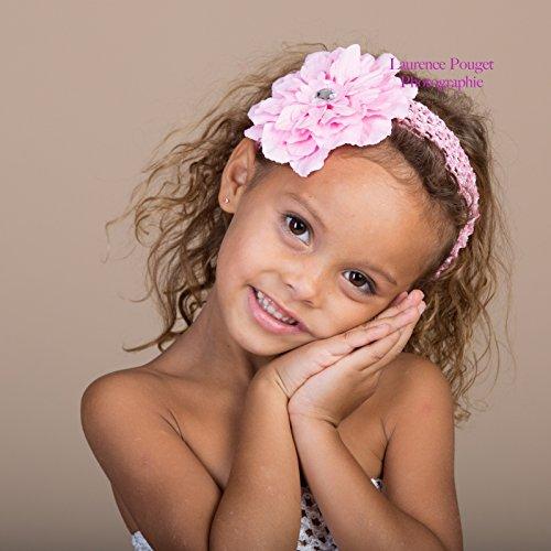 Bandeau+barrette bébé/fille, modèle Pétunia rose La panoplie Des Petits 3998