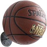 Wallniture Sporta Wall Mounted Sports Ball Holder Display Storage Steel Black
