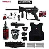 full auto paintball - Tippmann A-5 w/ Selector Switch E-Grip Starter Protective HPA Paintball Gun Package - Black