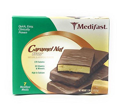 Medifast Caramel Nut Maintenance Bars 1 Box 7 Servings