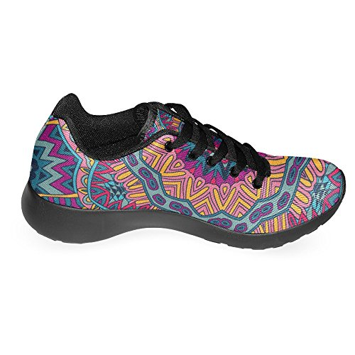 Interestprint Mujeres Jogging Running Sneaker Ligero Go Easy Walking Casual Comfort Zapatillas De Running Multi 5