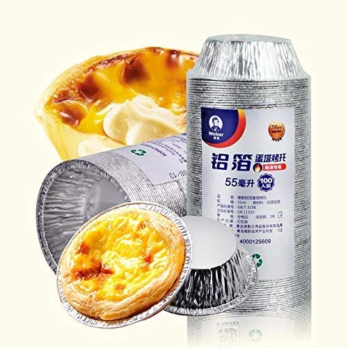 Lucky Gourd Food Grade Thickened Aluminum Foil Muffin 2 oz Cupcake Ramekin Custard Tart Holder,Pack of 100
