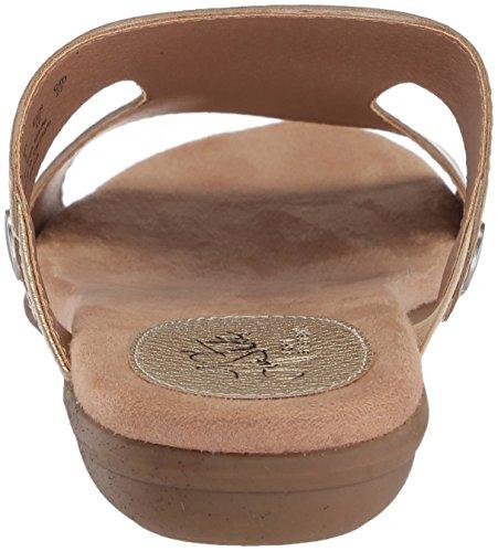 LifeStride Women's BAHA Flat Sandal, Parent, US Gold