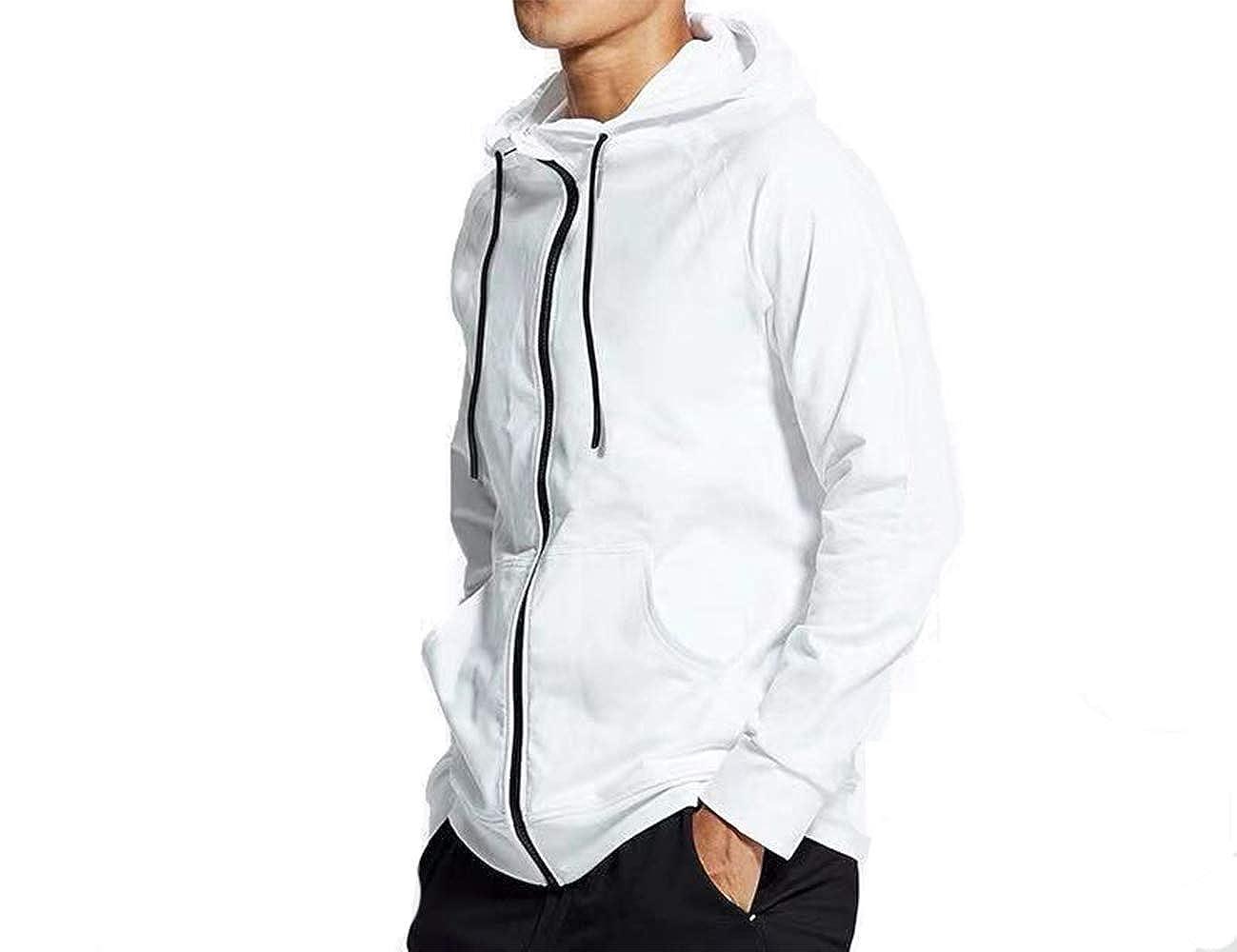 CXB Sports Teens Heavyweight Zip Up Fleece Hoodie Jacket Gym Workout Exercise Long Sleeve
