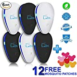 [2018 Updated] 6-Pack Ultrasonic Pest Control Repeller + FREE Bonus Mosquitoes Patches 12-Pack - Electromagnetic, Indoor Plug-in Repellent | Mice, Insects, Bugs, Ants, Rats, Spiders, Roaches, Rodents