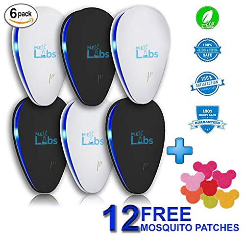 6-Pack Ultrasonic Pest Control Repeller + FREE Bonus Mosqui