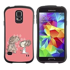 "Pulsar iFace Series Tpu silicona Carcasa Funda Case para Samsung Galaxy S5 , Personaje de dibujos animados Dibujo Chica rosado Perro"""