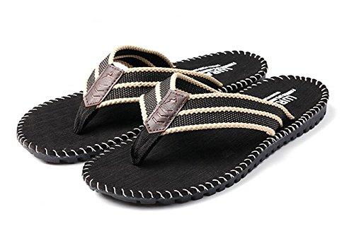 Nedons Motståndskraftigt Lätta Sommar Mens Rem Sandaler Flip Flops Svart