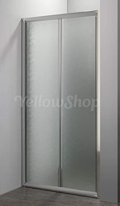 90 Yellowshop h 190 H190 80 da cm 68 a 72 Porta nicchia libro soffietto pieghevole bagno box doccia cristallo temperato cm 70 100 , Trasparente
