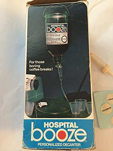 Hospital Booze, Vintage Novelty item Gag gift drink decanter by Neo-Art, Inc.