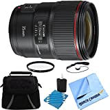 Canon Wide Angle EF 35mm f/1.4L II USM Lens Bundle Includes Lens, Gadget Bag, 72mm UV Protective Filter, Lens Cleaning Kit, Lens Cap Keeper and Beach Camera Microfiber Cloth
