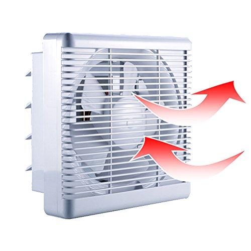 - SAILFLO 2-Way Linkage Exhaust Fan 8 Inch 300 CFM Strong Reversible Airflow Wall Mount Ventilation Shutter Fan for Bathroom Attic Kitchen Window Basement 8