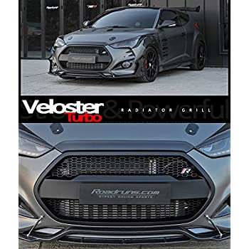 Devil Radiator Grille Grill For Hyundai Veloster Turbo 2012 2017 (Glossy Black)