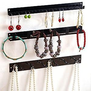 Amazoncom Wall Mounted Metal Jewelry Organizer Racks Earrings