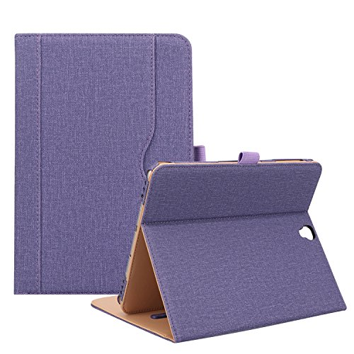 ProCase Samsung Galaxy Tab S3 9.7 Case, Stand Folio Case Cover for Galaxy Tab S3 Tablet (9.7 Inch, SM-T820 T825) with Multiple Viewing Angles, Document Card Pocket -Purple