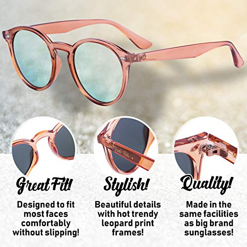 1a82929fcdc Bachelorette Party Sunglasses for Team Bride - 7 Bride Tribe Mirror Rose  Gold Lens Glasses -