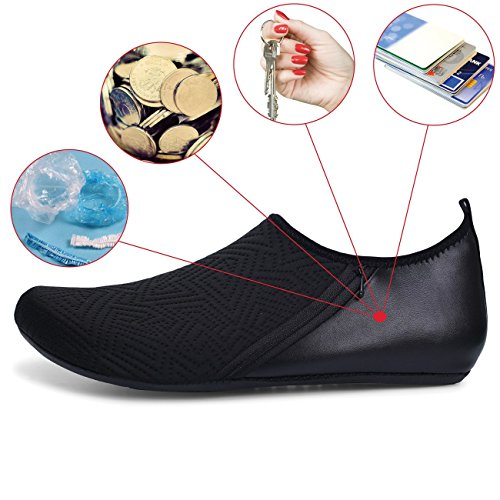 Quick Beach Shoes Boat Barefoot Water Sneakers Women Black Mens FEETCITY Surf Swim Shoes Pocket Dry Yoga PSnqz4Y
