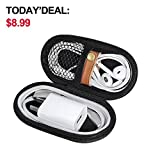 zebra portable phone charger - Headphones Carrying Case, Travel Portable Storage Bags for Bluetooth Wireless Headphones, Cords, Cable, Iphones Earbuds, Charger, Airpods, USB Flash Driver, MP3(Oval)