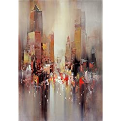 The High Quality Polyster Canvas Of Oil Painting 'Contemporary Abstract Painting: City Outline' ,size: 30x43 Inch / 76x110 Cm ,this High Quality Art Decorative Prints On Canvas Is Fit For Home Office Decoration And Home Gallery Art And Gifts