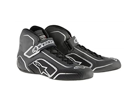 Amazon.com: ALPINESTARS TECH 1-T SHOES - BLACK/SILVER - SIZE 10 - SFI 3.3 LEVEL 5/FIA - FULL-GRAIN LEATHER: Automotive