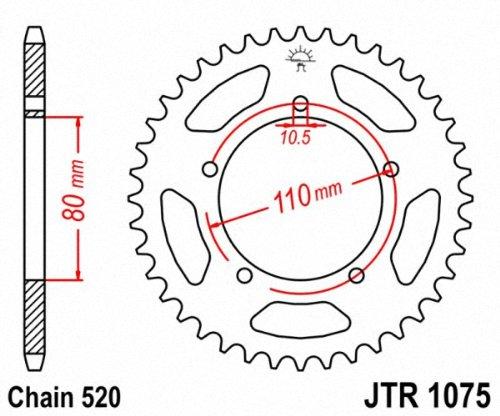 JT Sprockets JTR1075.39 39T Steel Rear Sprocket