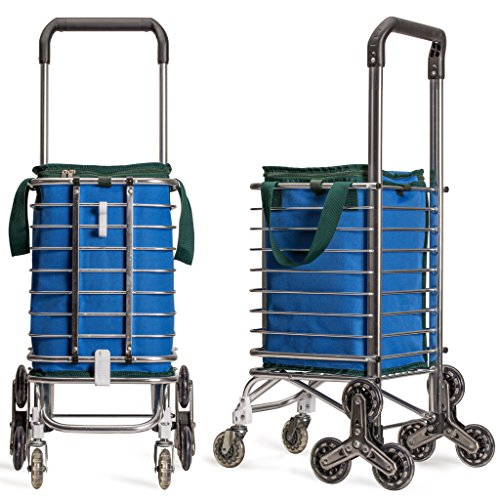 Sturdy Birdy Stair Climbing Farmers Market Cart with Insulated Bag ()