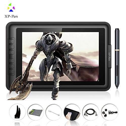 Pen Xp Usb - XP-Pen Artist10S IPS 10.1-Inch Drawing Monitor Pen Display Graphics Drawing Monitor with HDMI to Mac cable and Anti-fouling Glove (Black)
