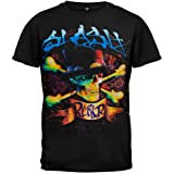 Slash - Blue Letters Top Hat Crossbones T-Shirt - 2X-Large