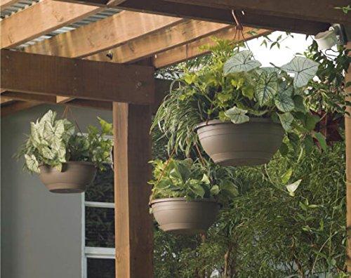 Crescent Emma 12 inch Round Resin Planter, Terracotta by Garden Goods Direct