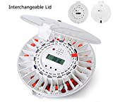 30 day automatic pill dispenser - LiveFine Automatic Pill Dispenser W/ Solid & White Lids Included, 28-Day Electronic Medication Organizer with Alerts, Flashing Light and Safety Latch - Dispenses Prescriptions Up To 6 Times Per Day -