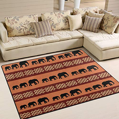 WIHVE Area Rugs South Africa Elephant Living Room Floor Accessories Home Bedroom Carpet 4