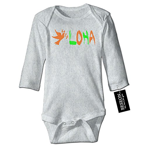 Baby's Boys&Girls Aloha Peace Pigeon Long-Sleeve Bodysuits Rompers (Pigeon Pajamas Childrens)
