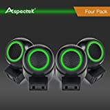 Aspectek Rotatable Ultrasonic Pest Control, Pest Repeller with Side Outlet and Adjustable Night Light - For Rodents, Rat, Mouse, Spider, Mosquito and Insect - Pack of 4 ()