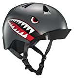 Bern - Kid's Nino Helmet, Satin Grey Flying Tiger w/Flip Visor, XS/S