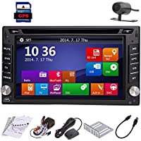 Backup Camera Windows 8 6.2 HD GPS Navigation 2 Din Car Stereo DVD Player In dash Radio Bluetooth USB SD AUX iPod MP3 PC