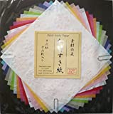 Japanese Handmade Paper Decorative Craft Rainbow Colors - 16 Pieces