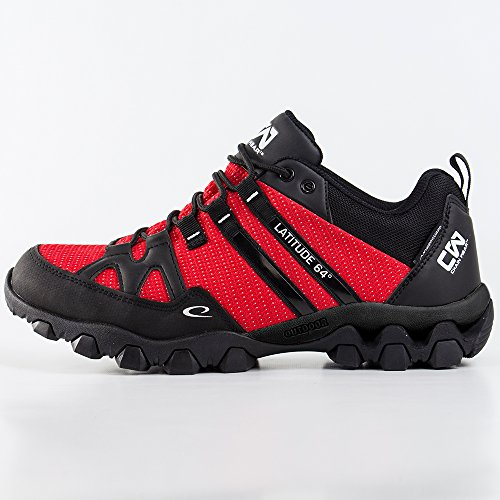 Image of the Latitude 64 Chain Wear T-Link Disc Golf Shoe - Red/Black - Size 6.5
