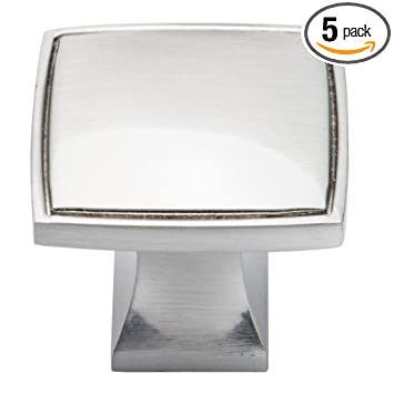 Brushed Nickel Cabinet Knobs by Southern Hills 1 38 inch Square