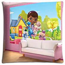 """18x18 18""""x18"""" 45x45cm bench pillow shell cases Cotton - Polyester fade-resistant Collection Doc McStuffins"""