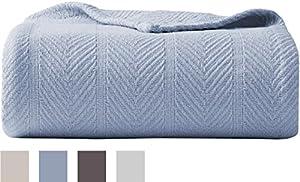 Eddie Bauer 200608 Herringbone Cotton Blanket, King, Bone from Revman International