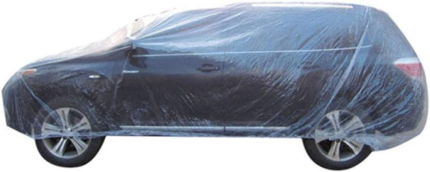 Fundas universales desechables de pl/ástico transparente para coche impermeables, temporales Mintice