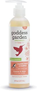 product image for Goddess Garden Organics Calming Baby Wash & Shampoo Pump for Sensitive Skin (8 oz. Bottle), Soothing Argan Oil & Aloe Vera, Vegan, Leaping Bunny certified Cruelty-Free, Dermatologist Tested