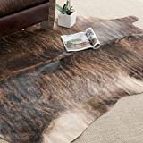 Handpicked Hacienda Argentinian Brown Black Cowhide Leather Rug (6′ x 6) Review