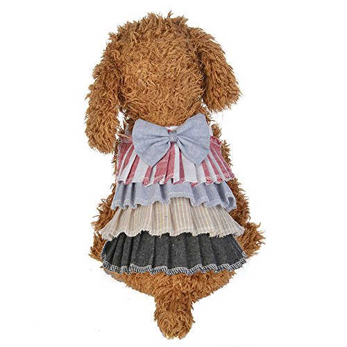 Clearance Deals Dog Dress Bow Cake Skirt Party Princess Dress Dog Costumes Pet Clothes