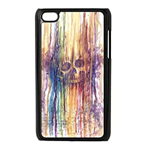 DIY Cover Case with Hard Shell Protection for Ipod Touch 4 case with Rainbow Skull lxa#899192 by runtopwell