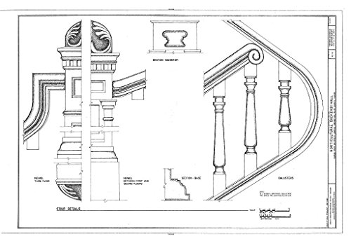 Historic Pictoric Blueprint Diagram HABS KS-61 (Sheet 11 of 11) - Horticultural Hall, Kansas State University Campus, Manhattan, Riley County, KS 44in x 30in ()
