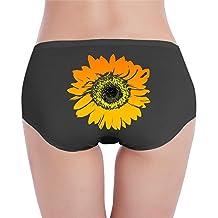 Sun Flower Art Womens Low-Waist Painted Design Collection Panties Underwear