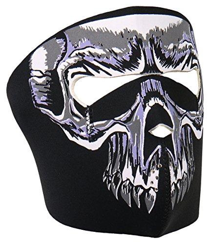 Hot Leathers Evil Skull Neoprene Face Mask (Black)