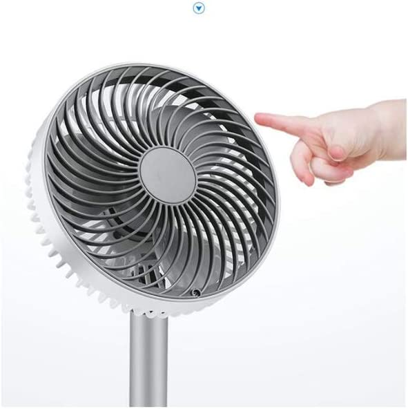 QXX Small Fan USB Rechargeable 4000 MA Quiet Sound Desktop Portable Shaking His Head Four Speeds Home Office Outdoor Travel Summer Essentials