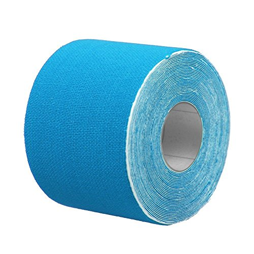 Price comparison product image Useful Small Tool 5cm x 5m Sports Kinesiology Tape Kinesio Roll Cotton Elastic Apertured Muscle stickers Adhesive Bandage-blue